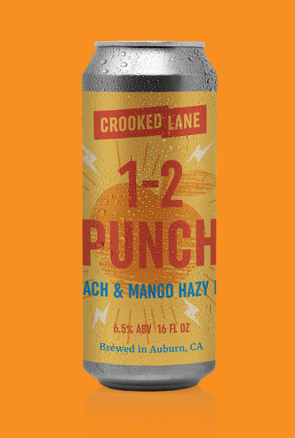 1-2 Punch - Peach and Mango Hazy IPA (4-Pack of 16 oz. cans)