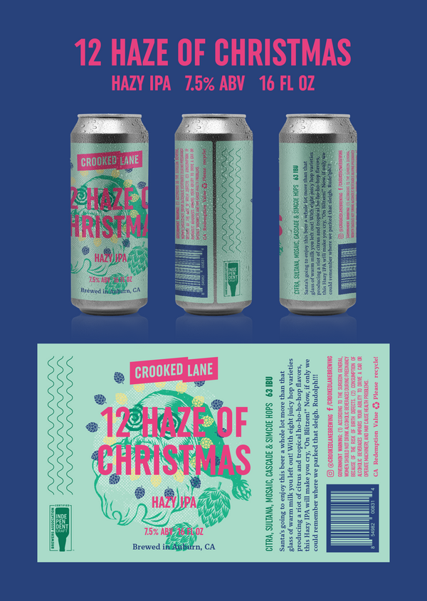 12 Haze of Christmas - Hazy IPA (4-Pack of 16 oz. cans)