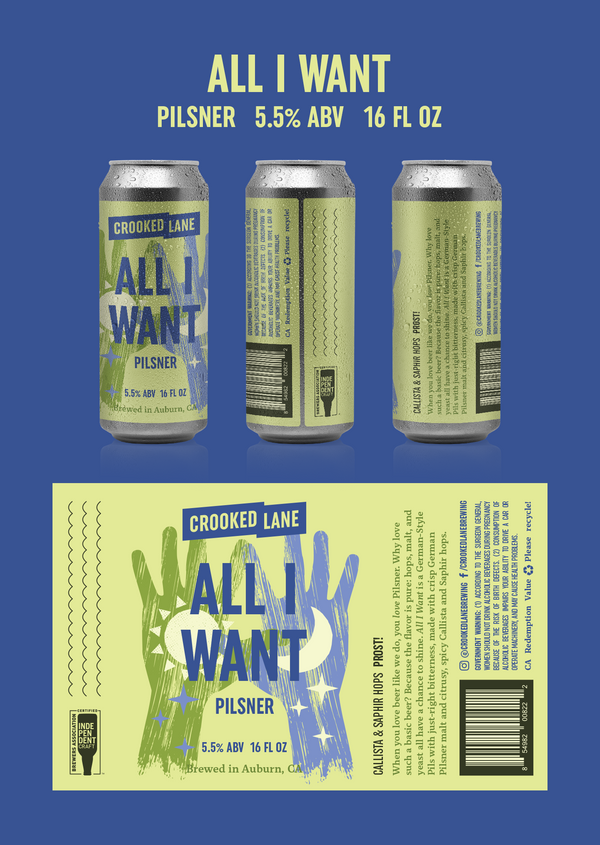 All I Want - German-Style Pilsner (4-Pack of 16 oz. cans)