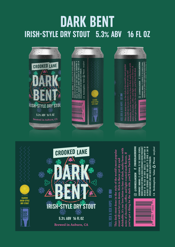 Dark Bent - Dry Irish Stout (4-Pack of 16 oz. cans)