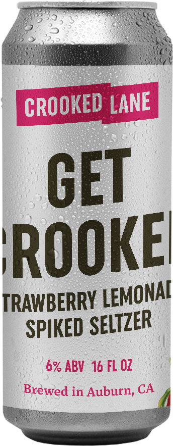 Get Crooked - Strawberry, Lime, and Lemon (4-Pack of 16 oz. cans)