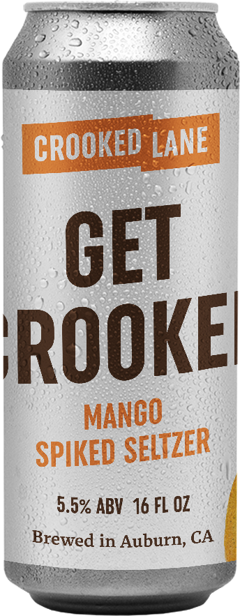 Get Crooked - Mango Spiked Seltzer (4-Pack of 16 oz. cans)