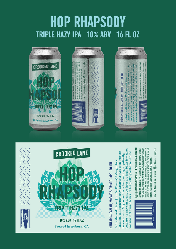 Hop Rhapsody - Hazy Triple IPA (4-Pack of 16 oz. cans)