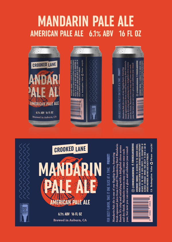 Mandarin Pale Ale (4-Pack of 16 oz. cans)