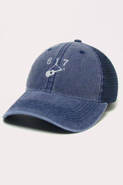 Hanging Guitar (617) Trucker - Navy Blue