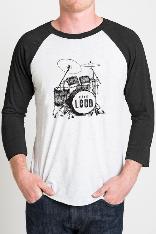 DRUM - Black/White Raglan