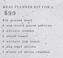 Load image into Gallery viewer, Meal Planner Kit for 4