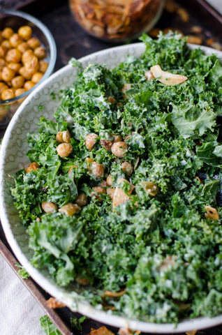 leafy kale salad full of anti oxidants