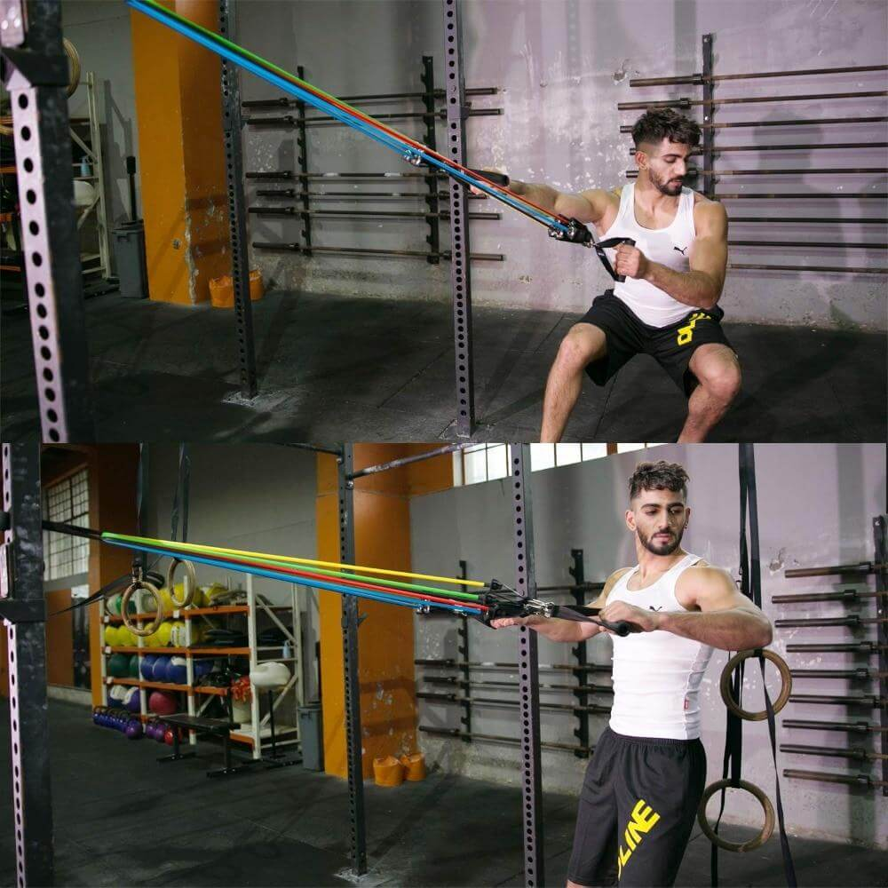 Complete resistance band set - superhumanhomefitness
