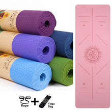 Load image into Gallery viewer, Eco-Friendly Non Slip Yoga Mat - superhumanhomefitness