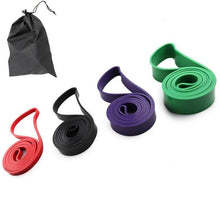 Load image into Gallery viewer, 4 Piece Resistance Band Set - Pull up and stretch out - superhumanhomefitness