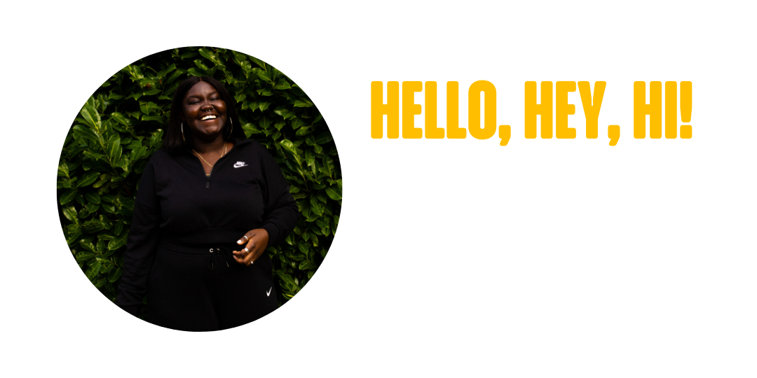 Photo of Fiona the founder of Dolce Butter saying hello.