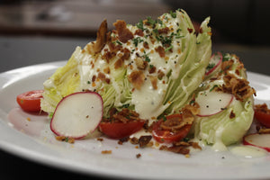CLASSIC WEDGE SALAD - HUNGERSSTOPYYC, hungers stop, hungersstop, burgers calgary, best burgers calgary, fish and chips calgary, best fish and chips calgary, best restaurant calgary