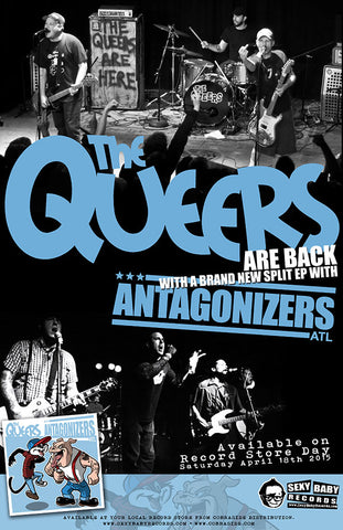 "The Queers / Antagonizers ATL ""Beyond the Dirty South Valley"" Poster"