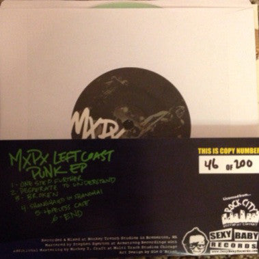 "MxPx ""Left Coast Punk EP"" (Glow In the Dark)"