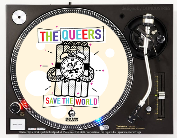 "The Queers ""Save the World"" Slipmat"