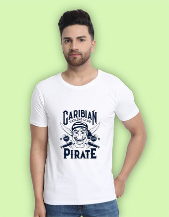 Caribian Pirate Graphic Men's T-Shirts