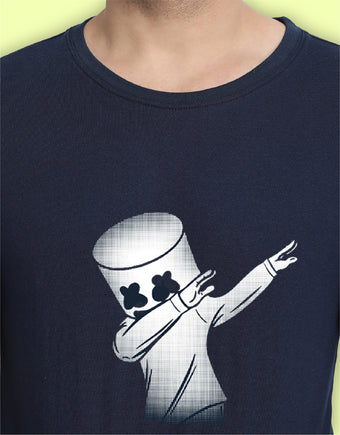 Dancing Marshmello Graphic T-shirts for Men