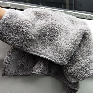 6PCS 500GSM 40X40Cm Super Thick Plush Edgeless Microfiber Towels Car Care Cleaning Cloths Microfibre Polishing Detailing Drying