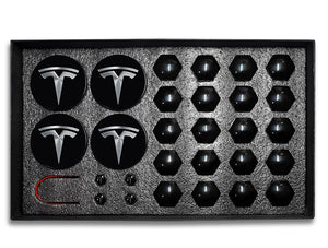 29pcs Tesla Model 3 S X Wheel Center Caps Hub Cover Screw Cap Kit Decorative Tires Car Modification Accessories Emblem Badge