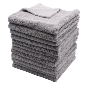 12- 320GSM 40x40cm Super Thick Plush Edgeless Microfiber Towels