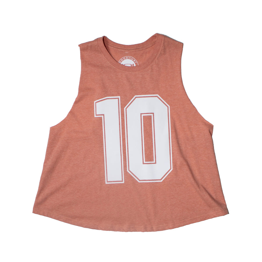 "GOODHURT - ""10"" Racerback Crop Top Tank"