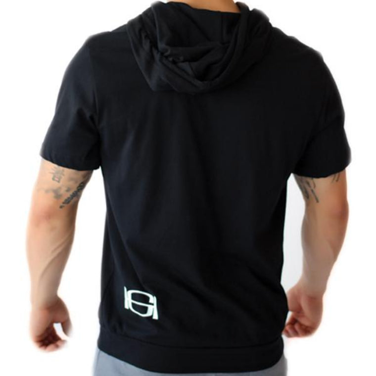 GOODHURT - Short Sleeve Hoodie Rear View
