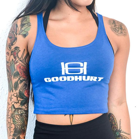 GOODHURT - Blue Crop Top Tank