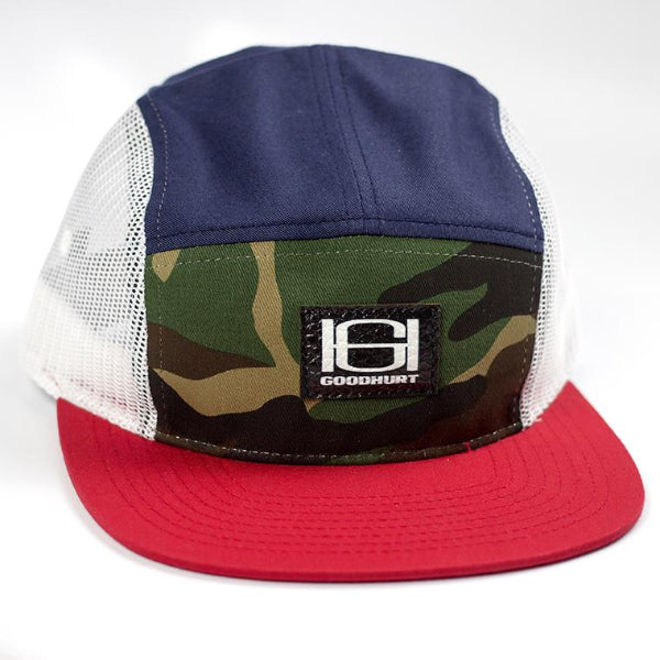 GOODHURT - Camper Style Red,White,Blue Cap