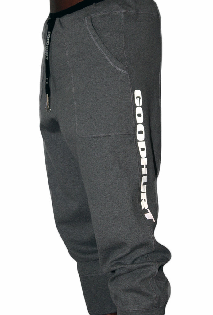 GOODHURT - 3/4 Grey Tech Joggers