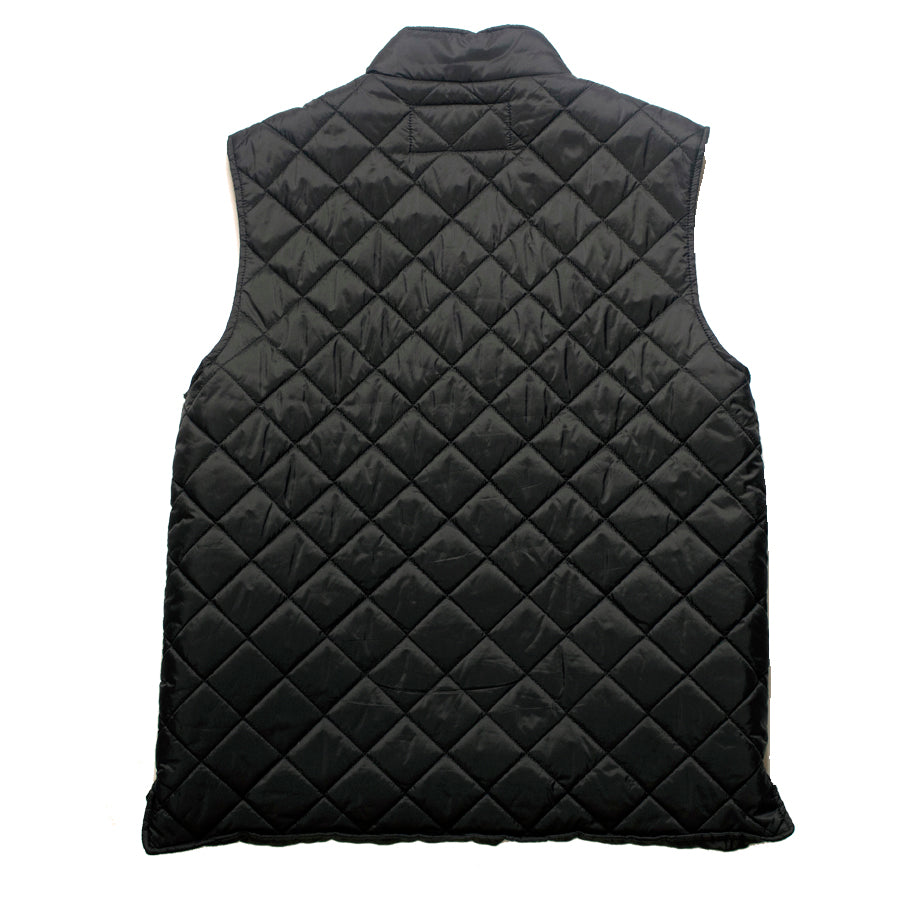 Goodhurt Quilted Vest Black Back