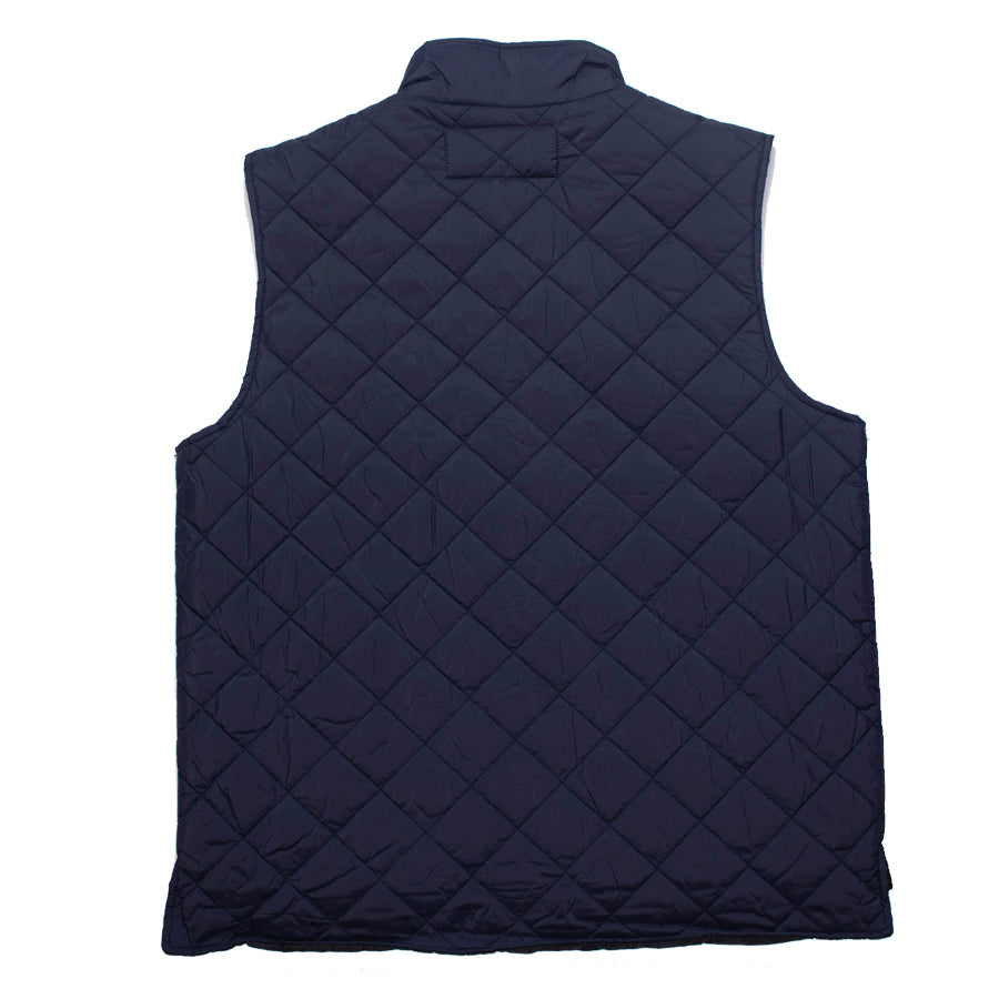 Goodhurt Quilted Vest Navy Back