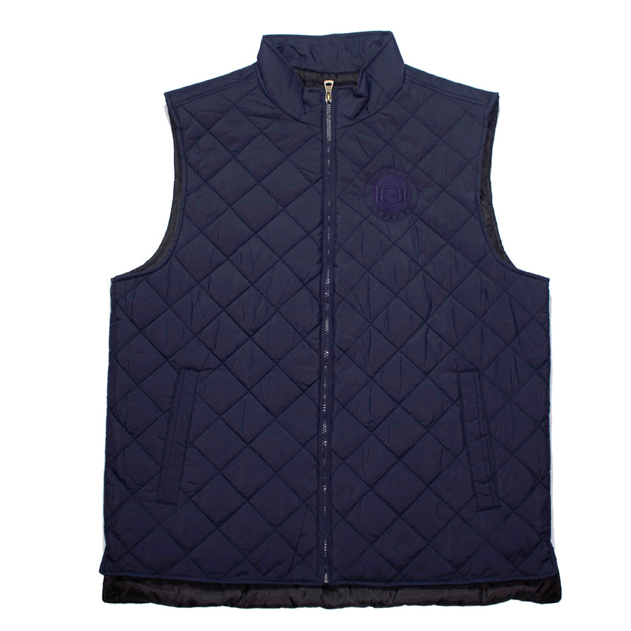 Goodhurt Quilted Vest Navy