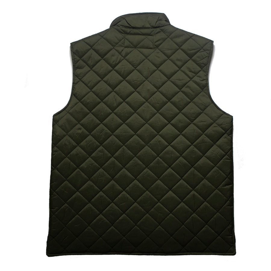 Goodhurt Quilted Vest Olive Back