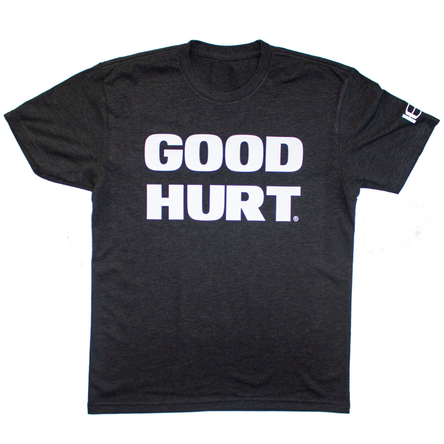 GOODHURT - Black/White Tri-Blend Kids T-Shirt