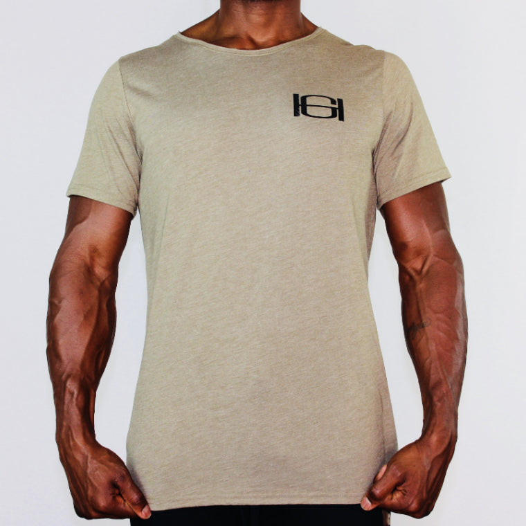 GOODHURT - Unisex Triblend Raw Neck Tee