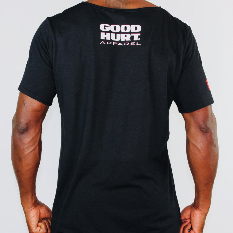 GOODHURT - MF Magnificent Unisex Raw Neck Tri-blend Tee