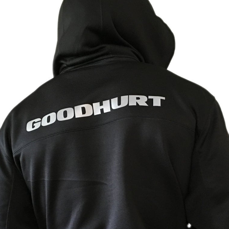 GOODHURT - Poly Tech - Zip Hooded Sweatshirt - Black