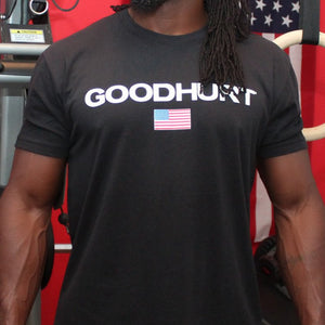 GOODHURT - Premium Fitted Suede Crew - Flag Tee