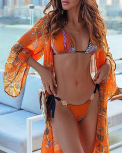 Dreamsicle - Orange Gold Coin Bikini