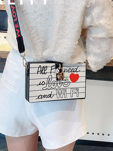 WIFI Love - Box Locket Graphic Purse