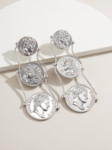 Got Coins - Silver Earrings