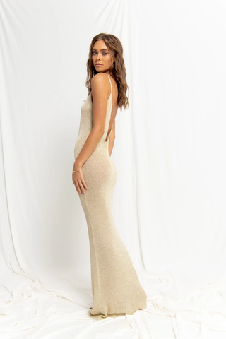 Maxi Cover-Up in Gold