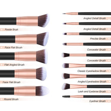 Load image into Gallery viewer, Foundation Powder Concealers EyeShadows Brush Set
