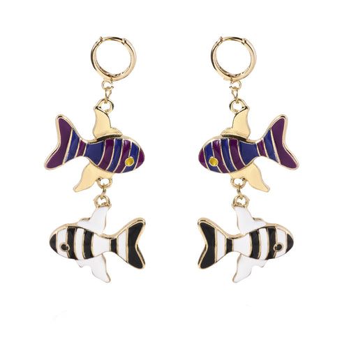 small fish hoop Earrings