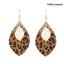 Load image into Gallery viewer,  leopard leather earrings