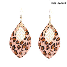 Load image into Gallery viewer, Animal Print Faux Leather Drop Earrings