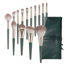 Load image into Gallery viewer, Green Makeup Brush Set 14 Pcs