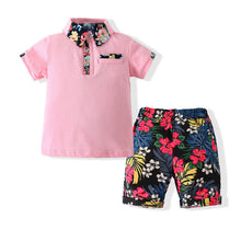 Load image into Gallery viewer, Boys 2 Piece Tee & Shorts Set