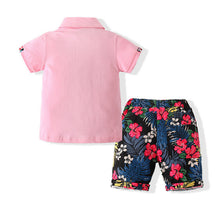 Load image into Gallery viewer, Boys 2 Piece Tee & Shorts Set for Summer